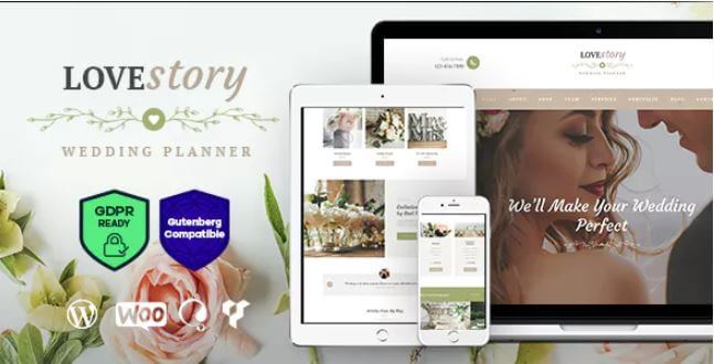 Love Story v1 2 - A Beautiful Wedding & Event Planner WordPress