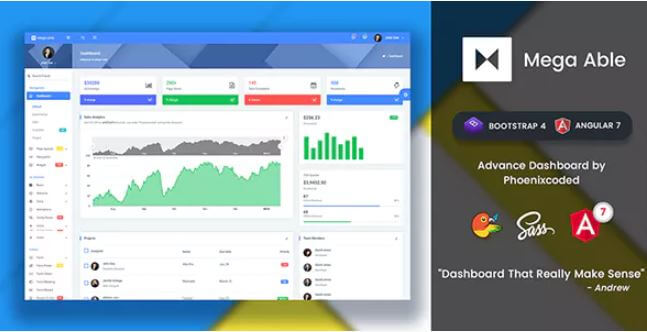 Download Free Mega Able v1 2 - Bootstrap 4 & Angular 7 Admin