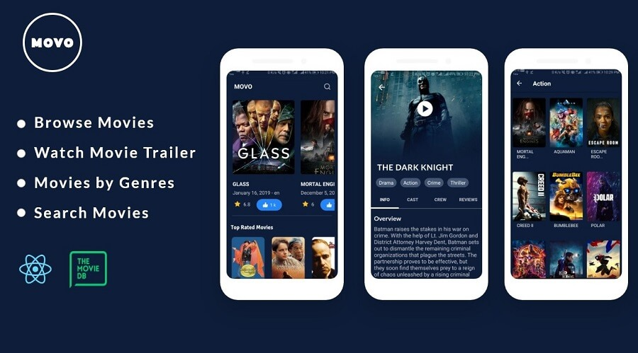 Download Free Movo - A React App Source Code | Get Free Premium Themes